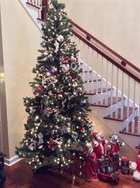 Beautiful Artificial Christmas Tree. Christmas Ornaments.