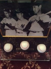 Joe DiMaggio signed baseball with Certificate of Authenticity.