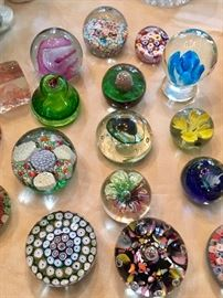Paperweight collection ~ several sold on Sat. but there are still many available.