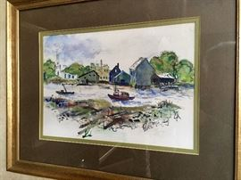 Original watercolor by Pat M. Smith 1969