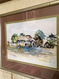 Original watercolor by Pat M. Smith