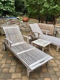 Teak outdoor furniture by Frontgate