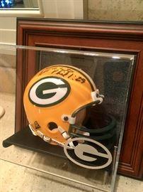 Reggie White autographed helmet