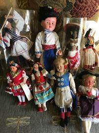Vintage foreign dolls