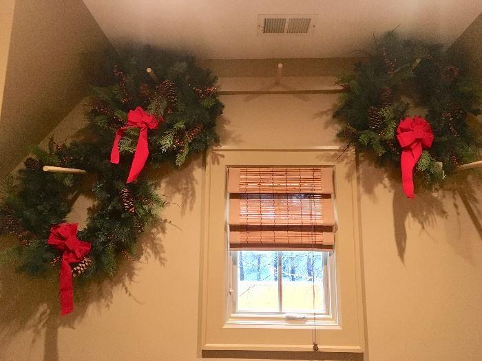 3 pre-lit Frontgate wreaths