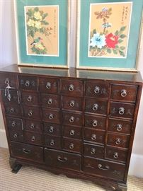Asian-style apothecary cabinet