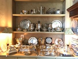 Selection of silverplate & a few pieces of sterling
