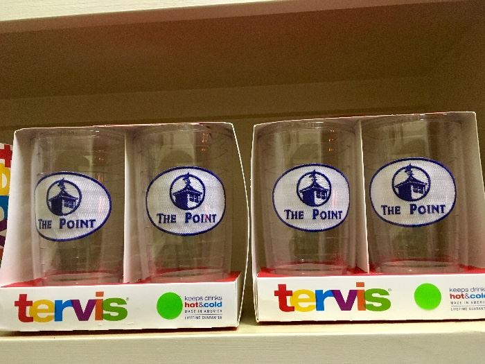 """Sets of new Tervis """"The Point"""" cups"""