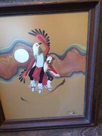 Kiowa dancers print Robert Redbird 20x24