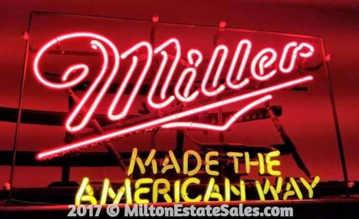 Miller Made the American Way Neon Light