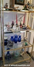 Metal and Glass Shelves and Decor