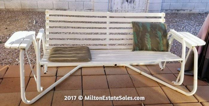 White bench glider