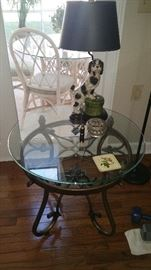 Glass top kitchen table and chairs.