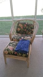 Patio chair and ottoman.