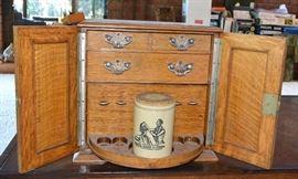 English Oak Tobacco Cabinet