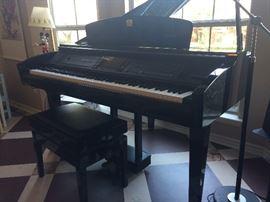 Black Yamaha Calvino Grand piano