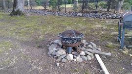 Iron fire pit.