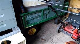 Durable garden cart.
