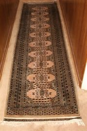 Hand tied Persian rug.  Signed.