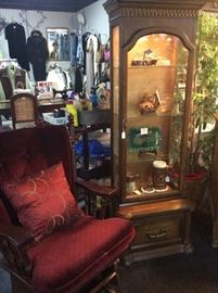 Burgundy Rocker, Small Curio
