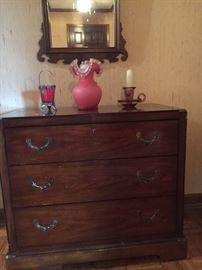 Super hall chest with recessed hardware
