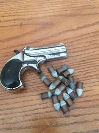 Remington over/under double barrel 41 caliber Derringer circa 1930 with bullets