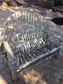 Twig bench - needs some tender loving care.