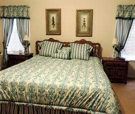 King Size Bedroom Suite with Custom Spread & Bedding