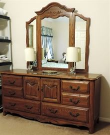 Matching Vanity with Triple Mirror