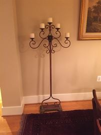 Matching pair of 5 arm candle stand