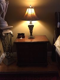 Two bedside tables with three drawers, by Hooker Seven Seas Collection.    Lamps are also for sale