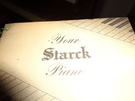 STARCK PIANO OPERATING MANUAL BROCHURE
