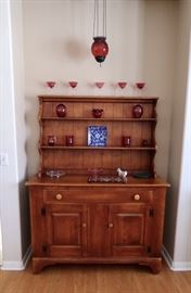 Vintage Cushman Company Buffet/Sideboard with Display Hutch