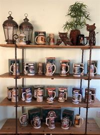 Collection of Budweiser Steins Gifted to Bar Owner