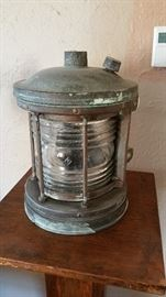 antique mast light, likely English, all bronze, excellent condition