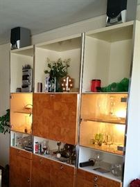 3 piece Retro bar-desk-bookcase-media-storage...fantastic!