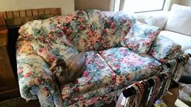 pretty chintz loveseat