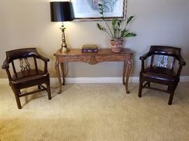 Kimball Leather chairs and sofa table