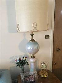 Opalescent Mid Century Lamp