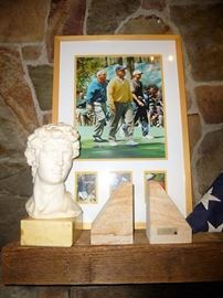 Maybe the 3 best golfers to ever play....tucked behind bookends made out concrete from the US Capitol