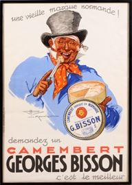 "2209 - HENRY LE MONNIER (FRENCH, 1893-1978), POSTER, 1937, H 54"", W 38"", 'CAMEMBERT GEORGES BISSON'"