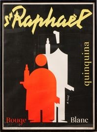 "2216 - CHARLES LOUPOT (SWISS, 1892-1962), POSTER, 1941, H 44"", W 32"", 'ST. RAPHAEL'"