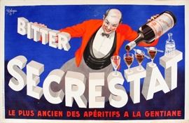 """2215 - ROBERT JAY WOLFF (AMERICAN, 1905-1978), POSTER, 1935, W 53"""", 'BITTER SECRESTAT'"""