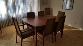 Dillingham Esprit Mid Century Modern Table & Chairs + 2 Leafs and pads