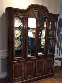 Drexel Heritage lighted China hutch