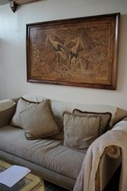 Sofa, Pillows and Art
