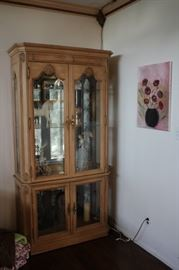 Curio Cabinet and Art