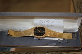 14K Gold Men's Omega Watch