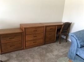 Night stand, Dresser, and Knee hold desk by This End UP