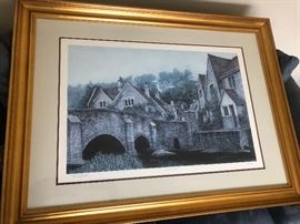 "Tom Caldwell ""Castle Combe"" lithograph 1305/1500"